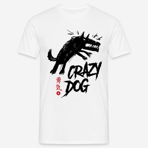 verrückter verrückter Hund - Männer T-Shirt