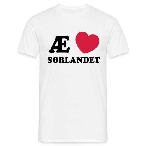 Love Sørlandet - T-skjorte for menn