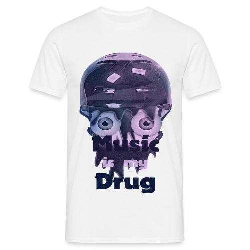 musicismydrugbigwobkgrd - Männer T-Shirt