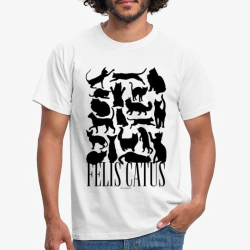 Felis Catus Black - Miesten t-paita
