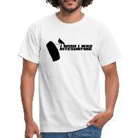I Wish I Was Kitesurfing - Black - Men's T-Shirt - white
