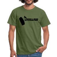 I Wish I Was Kitesurfing - Black - Men's T-Shirt - military green