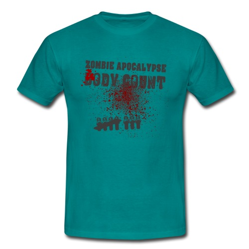 Zombie Apocalypse Body Count - Männer T-Shirt