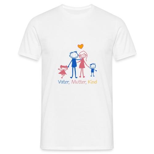 Vater, Mutter, Kind - Männer T-Shirt