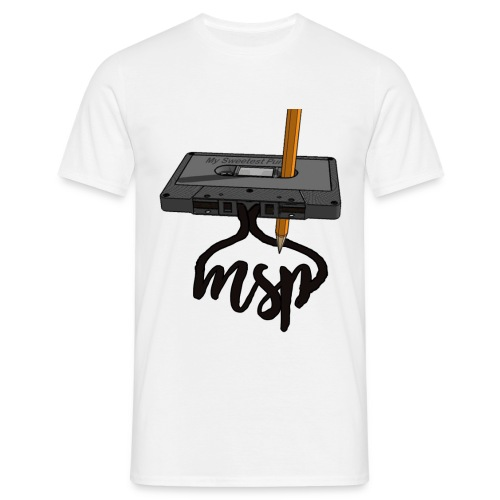 cassette_pencil_msp - T-shirt herr