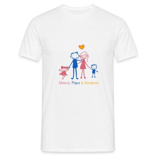 mama papa kinderen - Mannen T-shirt