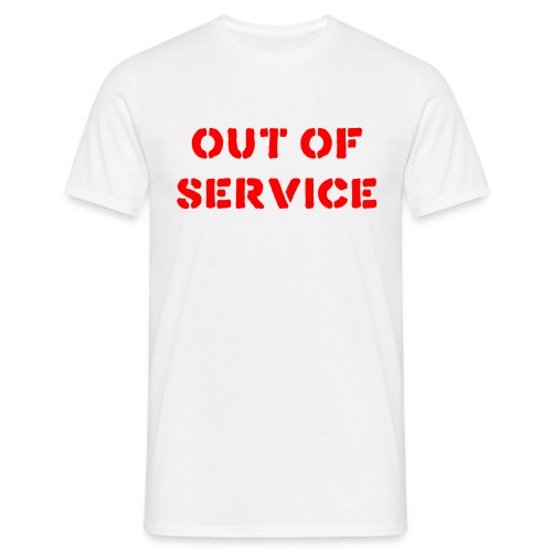 outofservice red - Men's T-Shirt