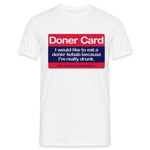 doner card - Men's T-Shirt