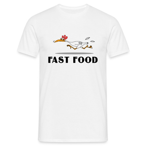 T-Shirt Herren fast food 1 - Männer T-Shirt