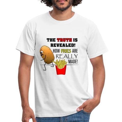 The truth about fries - Männer T-Shirt