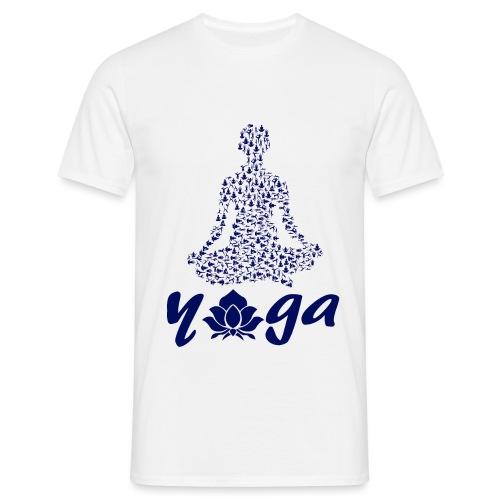 yoga fiore namaste pace amore hippie arte fitness - Maglietta da uomo