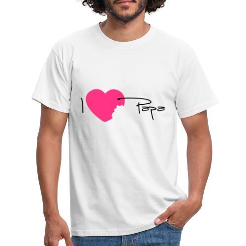 I love Papa 13 Vecto - T-shirt Homme