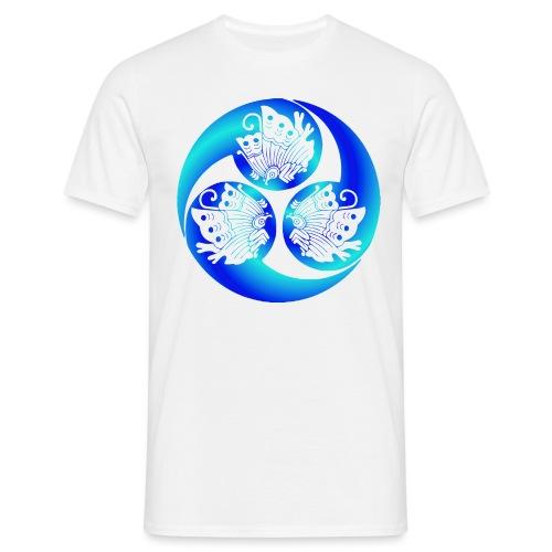 Samurai buttflys blue - T-shirt herr