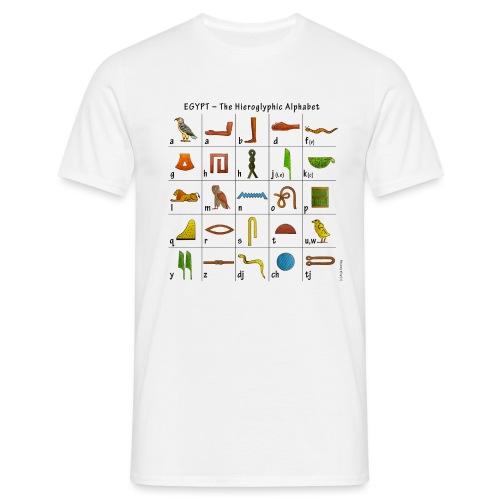 Ägyptisches Alphabet - Männer T-Shirt