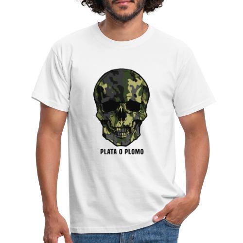 Colombian skull - plata o plomo - Männer T-Shirt