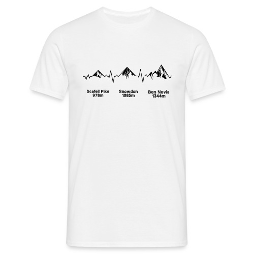 ECG Thee Peaks Light Background - Men's T-Shirt