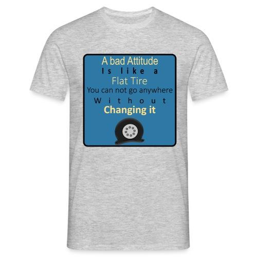 Flat-Tire - Herre-T-shirt