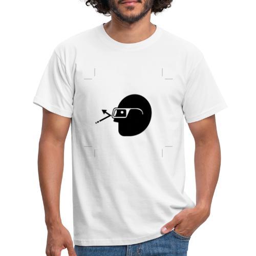 Kopf mit Brille - Männer T-Shirt