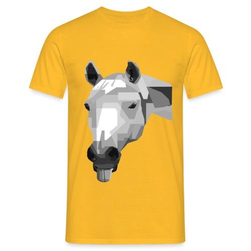 Pferde WPAP Design - Männer T-Shirt