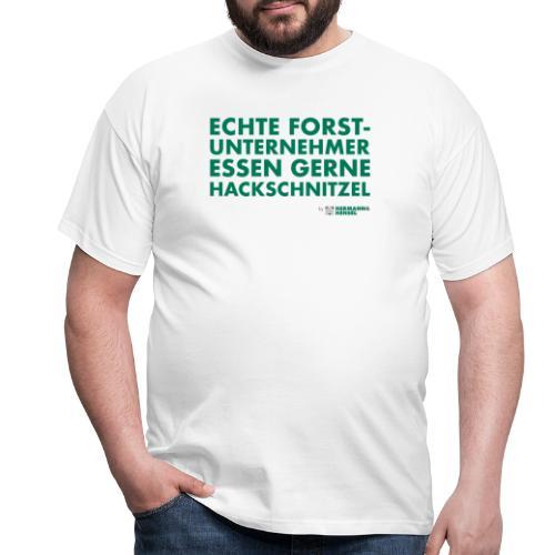 Forstunternehmer | Hackschnitzel - Männer T-Shirt