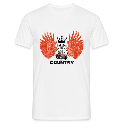 WINGS King of the country zwart rood op wit - Mannen T-shirt