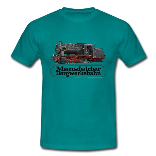 mansfelder bergwerksbahn dampflok 1 - Männer T-Shirt