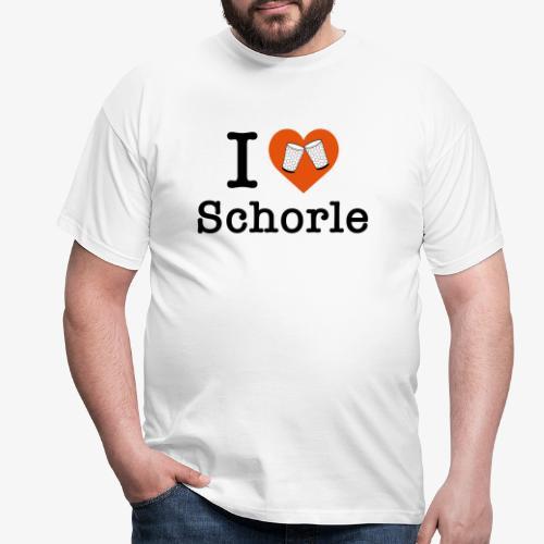 I love Schorle – Dubbeglas - Männer T-Shirt