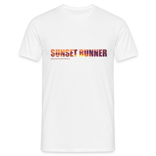 Sunset Runner - @RUNNINGFORCE - Männer T-Shirt