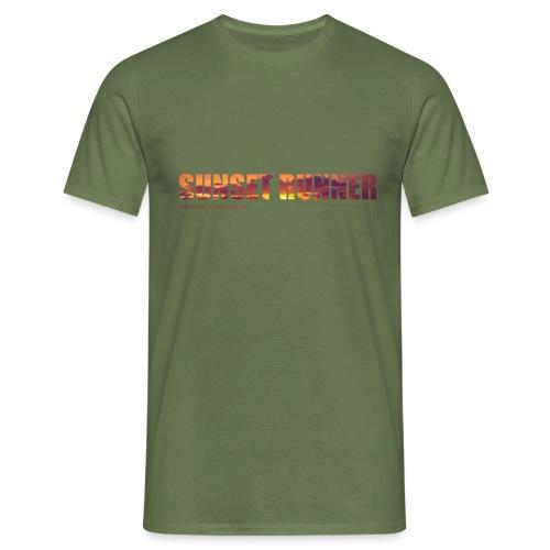 Sunset Runner - @RUNNINGFORCE - Männer T-Shirt