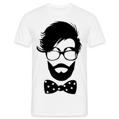 hipster_med_briller_og_butterfly - Herre-T-shirt