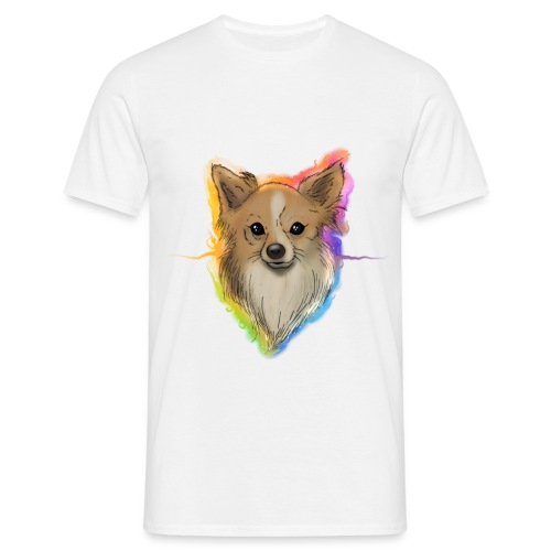 Chien chihuahua spitz poil long - T-shirt Homme