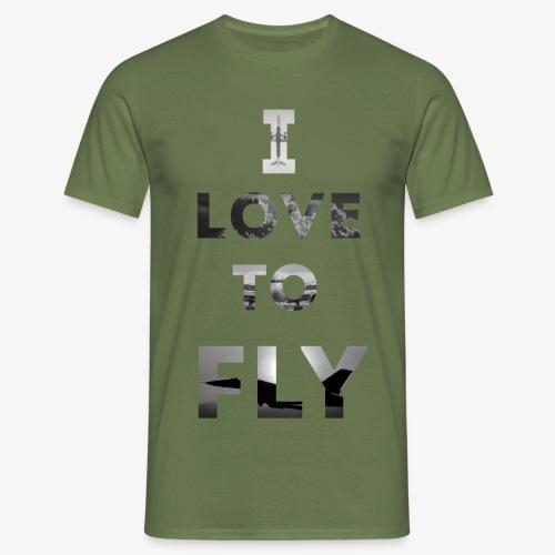 I LOVE TO FLY - Koszulka męska