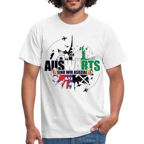 Auswärts sind wir asozial - Männer T-Shirt