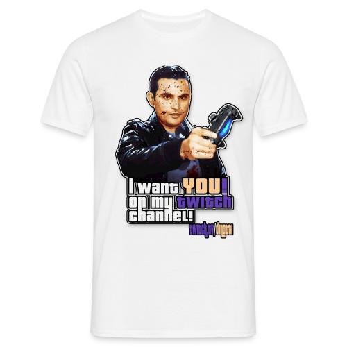 Dinotti Twitch Logo 01 alpha png - Men's T-Shirt