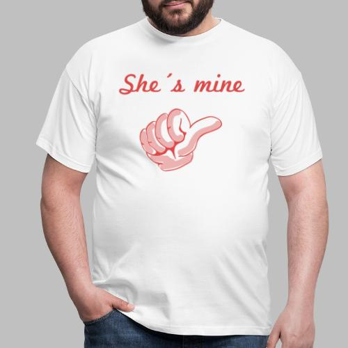 she´s mine Partnermotiv Frau - Männer T-Shirt