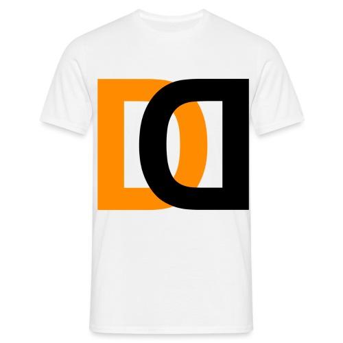Dutch Driveclub logo oranje zwart transparante ach - Mannen T-shirt