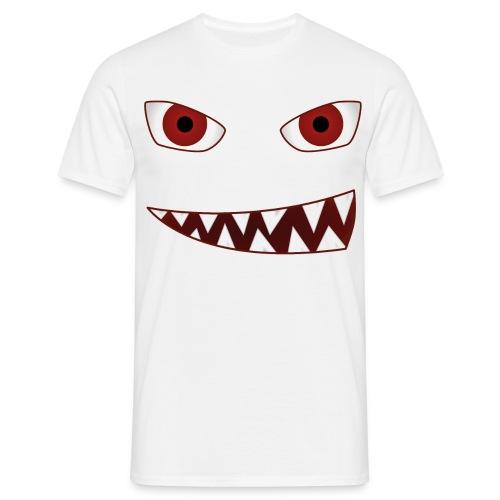 smiling devil emoticon grinning red demon - Männer T-Shirt