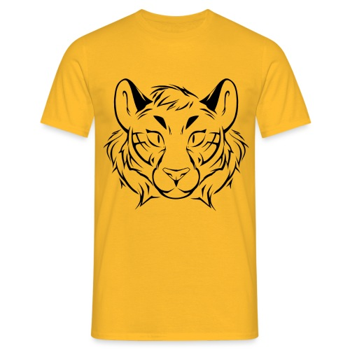 Tigris Picture Logo Black - Men's T-Shirt