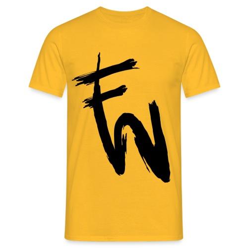FW svart tryck - T-shirt herr