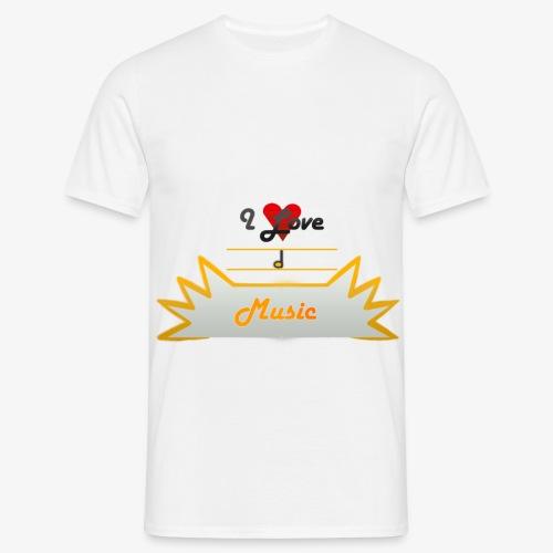 I Love Music - Koszulka męska