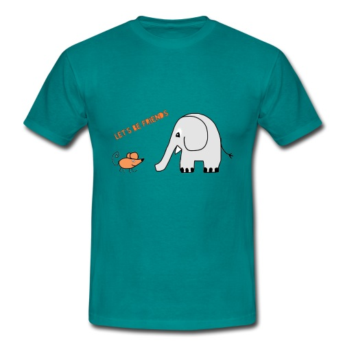 Elephant and mouse, friends - Men's T-Shirt