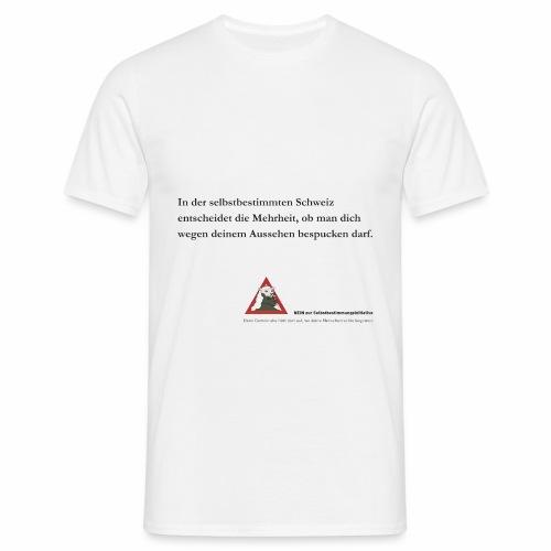 nein zur selbstbestimmungsinitiative 3 - Männer T-Shirt