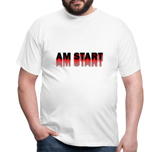 am Start - rot schwarz faded - Männer T-Shirt