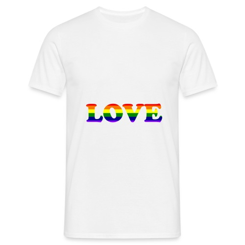 LOVE Rainbow #1 - Männer T-Shirt