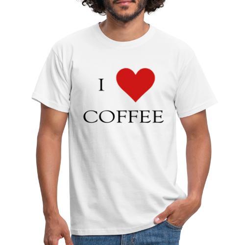 i love coffee Design - Männer T-Shirt