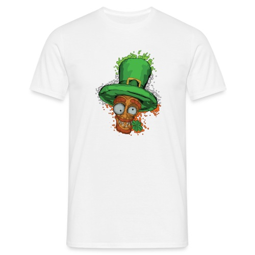 Leprechaun with shamrock - Men's T-Shirt