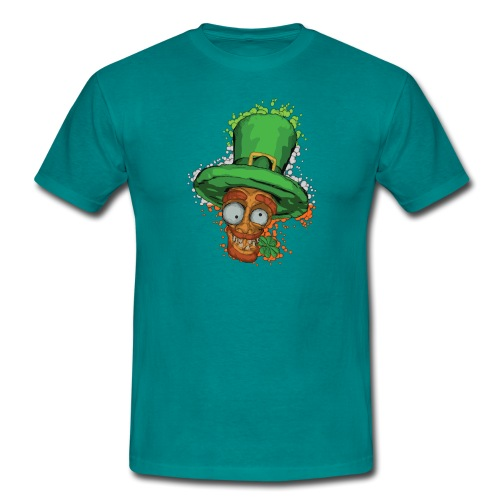 Leprechaun with shamrock - Men's T-Shirt
