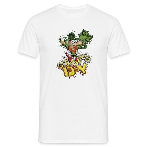 Leprechaun with beer - Men's T-Shirt