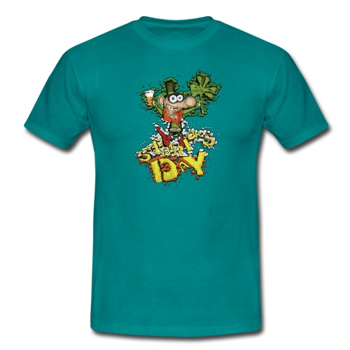 Leprechaun with beer - Men's T-Shirt