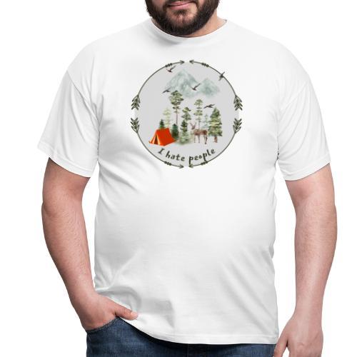 Flott gave til friluftsmenneske - I hate people - T-skjorte for menn